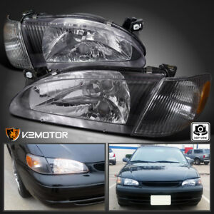 For 1998 2000 Toyota Corolla Euro Headlights Corner Signal Lamp Black