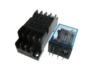 24vdc Coil Hh54p Power Relay W Socket Led Indicator Din Rail Mounting