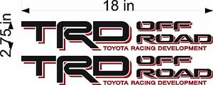 Toyota Trd Off Road Pair Vinyl Vehicle Truck Replacement Decal Stickers