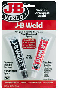 J b Weld Original Cold Weld Formula Steel Reinforced Two Part Epoxy 3960 Psi