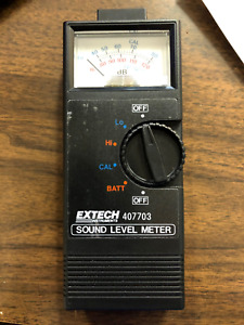 Extech Analog Sound Level Meter 407703 New