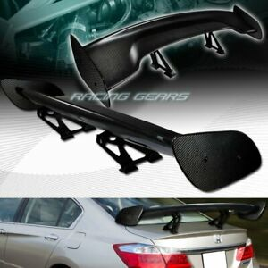 Universal 57 Dragon 3 Style Real Full Carbon Fiber Rear Trunk Gt Spoiler Wing