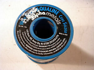 Alpha Aqualine Water Soluble Solder 025 60 40 Rosin Core 1 Roll