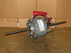 New Magnetek 3 Speed 1 6 Hp Double Shaft Blower Motor Stock 118 Model He3e026n