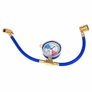 Car Auto Air Conditioning Ac R134a Refrigerant Recharge Measuring Hose W Gauge
