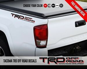 2x Toyota Tacoma Tundra Trd Off Road Racing Development Vinyl Decals Stickers