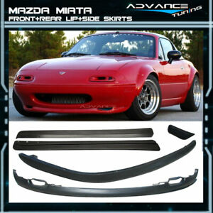 For 90 97 Mazda Miata Front Rear Lip Spoiler Fd Style Side Skirt