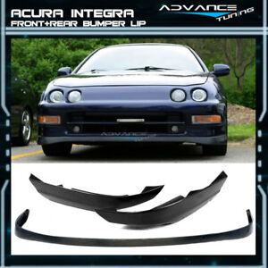 Fit For 94 97 Acura Integra Si V tec Sir Pu Front Bumper Lip T r Abs Rear Lip