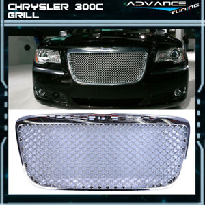 For 11 14 Chrysler 300 300c B style Front Mesh Grill Grille Chrome