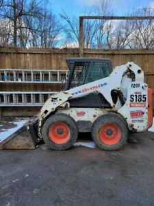 Bobcat Used 2012 Skid steer Loader Earth Moving Machine Heated Cab Backhoe Used