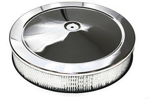 14 X 3 Chrome Air Filter Cleaner Pro Street Touring Hot Rod Smooth Top