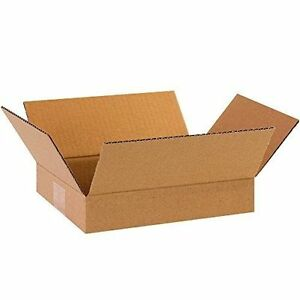 50 9x6x2 Cardboard Shipping Boxes Flat Corrugated Cartons