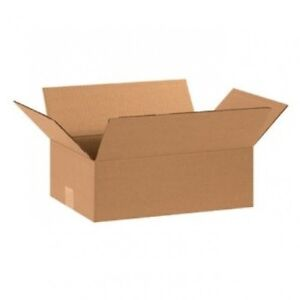 100 12x8x3 Cardboard Shipping Boxes Flat Corrugated Cartons