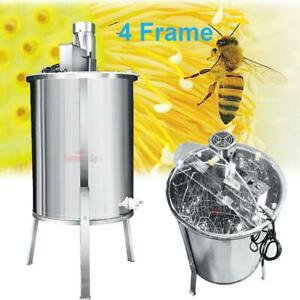 Pro Electric 4 Frame Stainless Steel Honey Extractor Beekeeping Equipment Drum