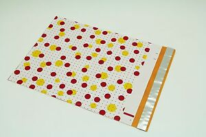 200 Bags 100 10x13 Dots 100 10x13 Yellow Designer Poly Mailers Custom Envelopes