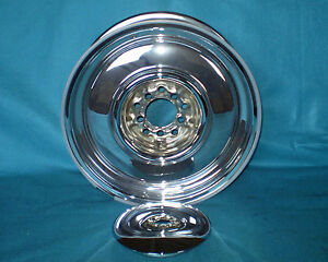 Wheel Vintique Steel Chrome Wheel Baby Moon 16 X 7 New 06 6615402
