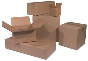 25 18x10x4 Cardboard Shipping Boxes Flat Corrugated Cartons