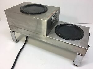 Stainless Steel Bunn 2 burner Coffee Pot Warmer Model Slf Made In Usa