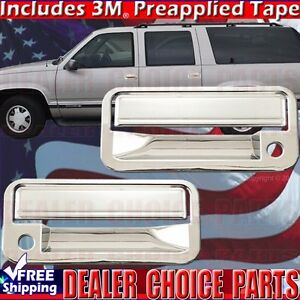 1988 1998 Chevy Gmc C K 1500 Chrome Door Handle Covers Overlays Trims 2dr W Psk