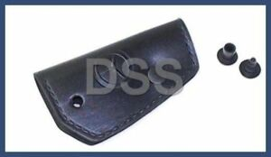 New Genuine Mercedes Benz Black Blade Key Cover Leather Oem 1088900661