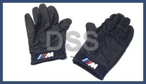 New Genuine Bmw M Driving Gloves Black Leather Large Sized Oem 80160435736