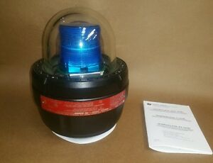 Federal Signal Explosion Proof Led Warning Light 27xl 024b Blue Lens