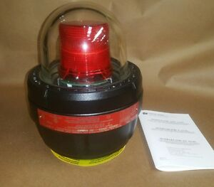 Federal Signal Explosion Proof Led Warning Light 27xl 024b Red Lens