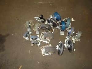 Lot 18 Misc Casters Used Heavy Duty And Light Duty