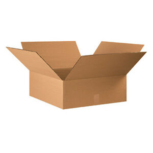 15 22x22x8 Cardboard Shipping Boxes Flat Corrugated Cartons