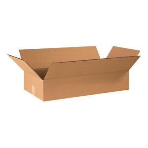 25 24x12x4 Cardboard Shipping Boxes Flat Corrugated Cartons