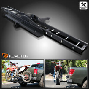 Motorcycle Scooter Dirtbike Carrier Hauler Hitch Mount Rack Ramp Anti Tilt 75
