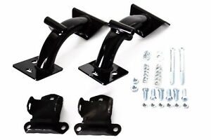 63 67 Chevy Truck Black Powdercoated Tubular V8 Engine Motor Mounts 350 454 Kit