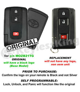 Replacement For 2004 2005 2006 2007 2008 2009 Toyota Prius Key Fob Remote Entry