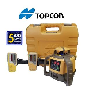 Topcon Model Rl h5a Db alkaline Rotating Laser Level W Extra Ls 80l Receiver