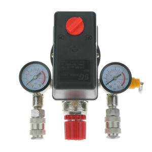 Air Compressor Pressure Switch With Meter 3 phase Single Slot Control Valve