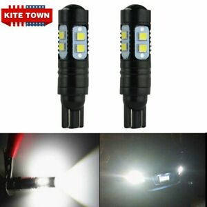 2x 50w 921 912 T10 T15 Led 6000k Hid White Backup Reverse Lights Bulbs For Cree
