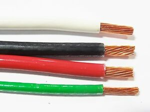 100 Ea Thhn Thwn 6 Awg Gauge Black White Red Copper Wire 100 8 Awg Green