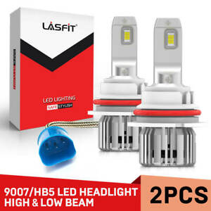 2x Lasfit 9007 Hb5 Led Headlight Bulb High Lo Beam 6000k Super Bright 7600lm 60w