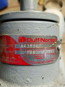 Duff Norton Ball Screw Actuator 8439567 Um9803 Dm9803