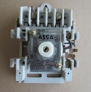 Asco Lighting Contactor C n 917 22071 Coil 265 277v 20amp Automatic Switch Co Qd