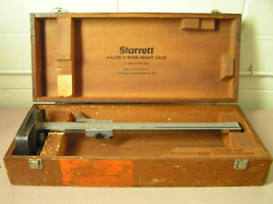 Starrett Master Vernier Height Gage No 254 20
