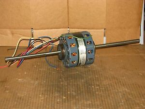 New Fasco D277 1 10 Hp Double Shaft 3 Speed Blower Motor