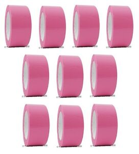 2 X 110 Yd Pink 10 Rolls Packaging Packing Tape Carton Sealing Free Shipping