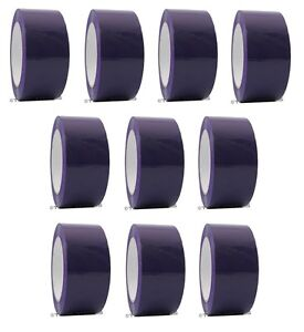 2 X 110 Yd Purple 10 Rolls Packaging Packing Tape Carton Sealing Free Shipping