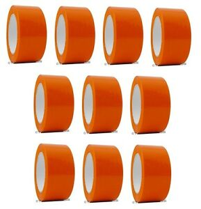 2 X 110 Yd Orange 10 Rolls Packaging Packing Tape Carton Sealing Free Shipping
