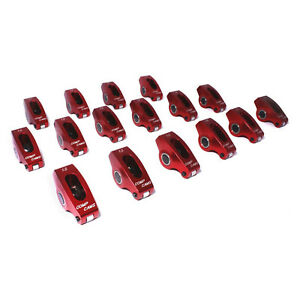 Comp Cams 1017 16 Sbc Roller Rocker Arms 1 5 Ratio 3 8in Stud
