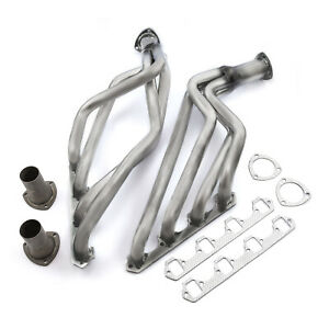 Ford Sb 289 302 351 Windsor Mustang 1964 70 Long Tube Raw Exhaust Headers