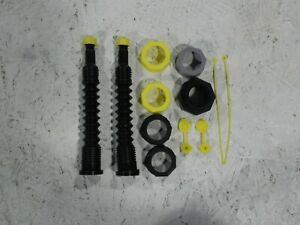 Gas Can Best Kit Made 2 Spout Kits Black With 7 Can Adapters Fits Most All Cans