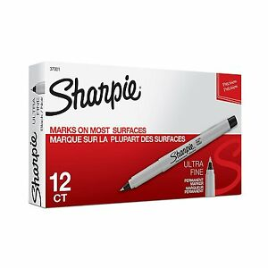 Sharpie Black Ultra Fine Permanent Marker 288 Each 37001