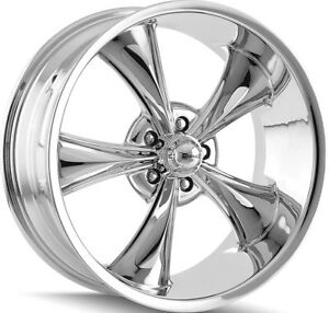 Staggered Ridler 695 Front 18x8 rear 18x9 5 5x4 75 0mm Chrome Wheels Rims